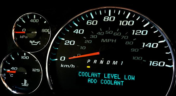 Jaguar Low Coolant Level Warning